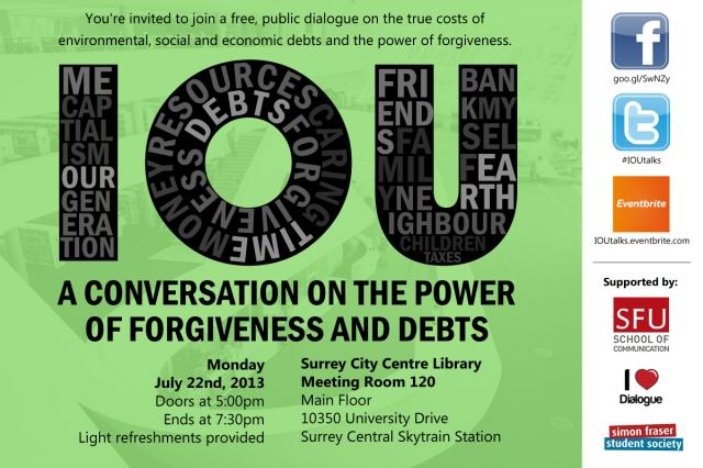 IOU Dialogue on July 22 postcard
